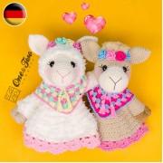 Astrid the Alpaca Security Blanket Crochet Pattern - German Version