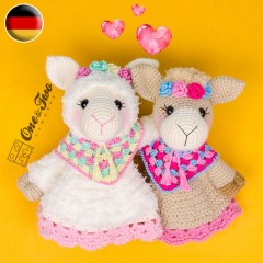 Astrid the Alpaca Security Blanket Crochet Pattern - German Version