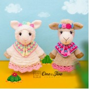 Astrid the Alpaca Lovey and Amigurumi Crochet Patterns Pack - English, Dutch, German