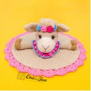 Astrid the Alpaca Security Blanket Crochet Pattern - Dutch Version