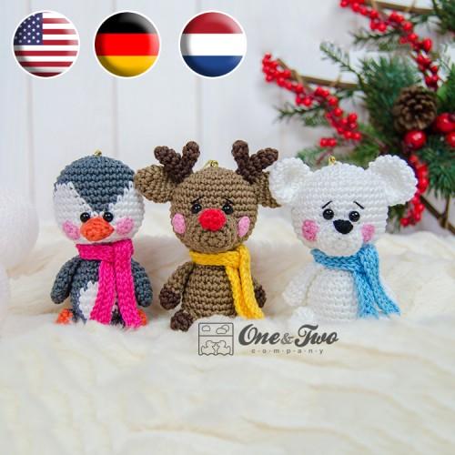 Christmas reindeer amigurumi pattern | Amiguroom Toys | 500x500