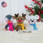 Christmas Ornaments: Reindeer, Penguin and Polar Bear Crochet Pattern - English Version