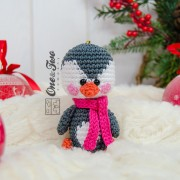 Christmas Ornaments: Reindeer, Penguin and Polar Bear Crochet Pattern - English, Dutch, German