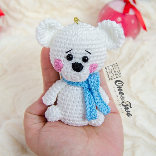 Polar bear and owl ornament crochet pattern ice bear and owl | Etsy | 500x500