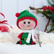 Christmas Ornaments: Snowman, Gingerbread and Santa's Helper Crochet Pattern - Dutch Version