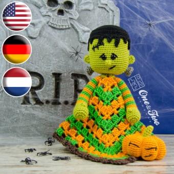 Frankie Security Blanket Crochet Pattern - English, Dutch, German