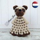 Hiro the Pug Security Blanket Crochet Pattern - Dutch Version