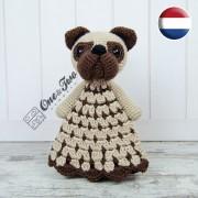 Hiro the Pug Security Blanket Crochet Pattern - Dutch Version
