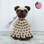Hiro the Pug Security Blanket Crochet Pattern - English Version