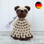 Hiro the Pug Security Blanket Crochet Pattern - German Version