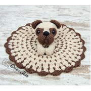 Hiro the Pug Security Blanket Crochet Pattern - English, Dutch, German