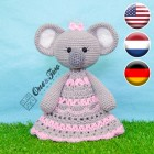 Kira the Koala Security Blanket Crochet Pattern - English, Dutch, German