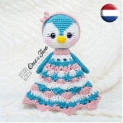 Priscilla the Sweet Penguin Security Blanket Crochet Pattern - Dutch Version