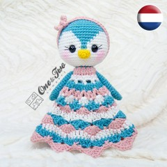 Priscilla the Sweet Penguin Security Blanket Crochet Pattern - Dutch Version