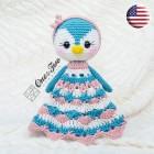 Priscilla the Sweet Penguin Security Blanket Crochet Pattern - English Version