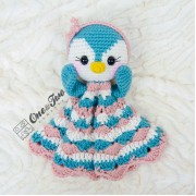 Priscilla the Sweet Penguin Security Blanket Crochet Pattern - English, Dutch, German