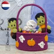 Spooky Halloween Basket Crochet Pattern - Dutch Version
