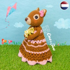 Suki the Squirrel Security Blanket Crochet Pattern - Dutch Version