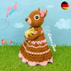 Suki the Squirrel Security Blanket Crochet Pattern - German Version