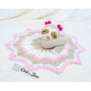 Stella the Sloth Security Blanket Crochet Pattern - English, Dutch, German, Spanish, French