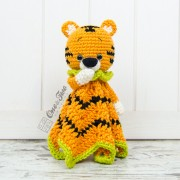 Denver the Tiger Minilovey Crochet Pattern - English, Dutch, German, Spanish, French