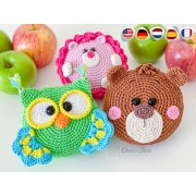 Forest Folding Shopping Bags Crochet Pattern - English, Dutch, German, Spanish, French