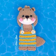 Ori the Otter Minilovey Crochet Pattern - English, Dutch, German, Spanish, French
