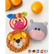 Safari Folding Shopping Bags Crochet Pattern - English, Dutch, German, Spanish, French