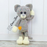 Kissie the Kitty amigurumi (Grey version) - Finished Item