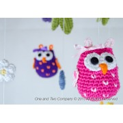 Owls and Flowers Mobile Phototutorial Crochet Pattern