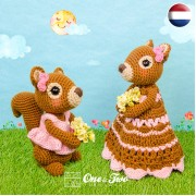 Suki the Squirrel Lovey and Amigurumi Crochet Patterns Pack - Dutch Version