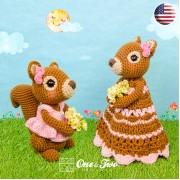 Suki the Squirrel Lovey and Amigurumi Crochet Patterns Pack - English Version