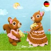 Suki the Squirrel Lovey and Amigurumi Crochet Patterns Pack - German Version