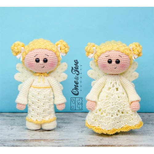 Crochet Amigurumi Doll Angel - Free Patterns | Crochet xmas ... | 500x500