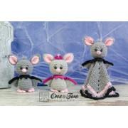 Brook the Tiny Bat Lovey and Amigurumi Crochet Patterns Pack