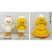 Coco the Little Chicken Lovey and Amigurumi Crochet Patterns Pack