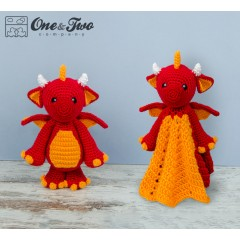 Felix the Baby Dragon Lovey and Amigurumi Crochet Patterns Pack