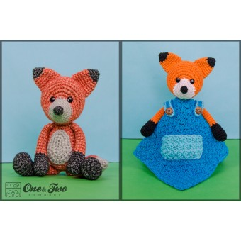 Flynn the Fox Lovey and Amigurumi Crochet Patterns Pack
