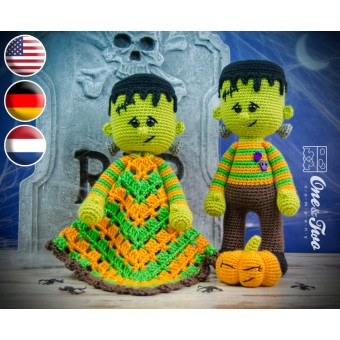 Frankie Lovey and Amigurumi Crochet Patterns Pack - English, Dutch, German