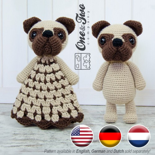 Ravelry: Little amigurumi pug dog pattern by mohu | 500x500