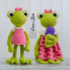 Kelly the Frog Lovey and Amigurumi Crochet Patterns Pack