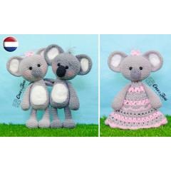 Kira the Koala Lovey and Amigurumi Crochet Patterns Pack - Dutch Version