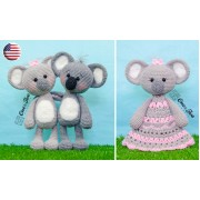 Kira the Koala Lovey and Amigurumi Crochet Patterns Pack - English Version