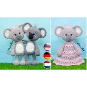 Kira the Koala Lovey and Amigurumi Crochet Patterns Pack - English, Dutch, German
