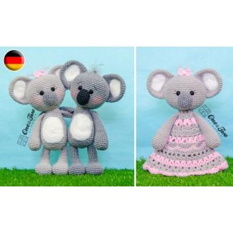 Kira the Koala Lovey and Amigurumi Crochet Patterns Pack - German Version