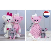 Kissie the Kitty and Skip the Little Mouse Lovey and Amigurumi Crochet Patterns Pack - Dutch Version