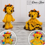 Logan the Lion Lovey and Amigurumi Crochet Patterns Pack