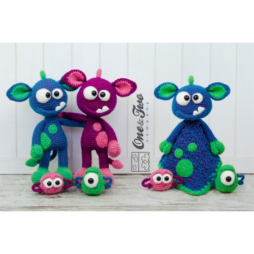 Purple People Eater Free Toy Monster Amigurumi - Hooked On Patterns | 500x500