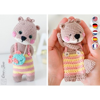 Ori the Otter Minilovey and Amigurumi Crochet Patterns Pack - English, Dutch, German, Spanish, French