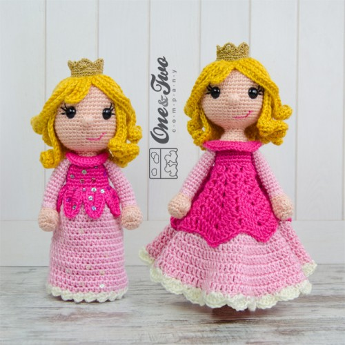 Free Amigurumi Princess Pattern : Princess Rose Lovey and Amigurumi Crochet Patterns Pack